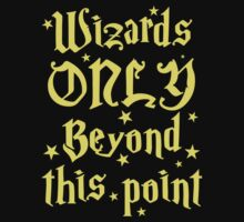 Wizards only beyond this point Kids Tee
