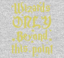 Wizards only beyond this point Baby Tee