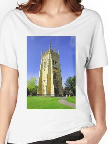The Bell Tower, Evesham Abbey  Women's Relaxed Fit T-Shirt
