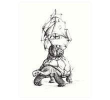 Tortoise Travel Art Print