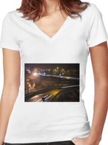 Belgrade Serbia Women's Fitted V-Neck T-Shirt