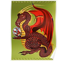 Red Fortune Dragon Poster