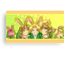 Legend of Zelda: Bunny Hoods Canvas Print