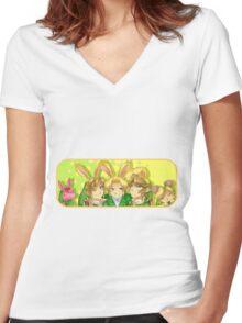 Legend of Zelda: Bunny Hoods Women's Fitted V-Neck T-Shirt