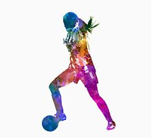 Girl playing soccer football player silhouette T-Shirt