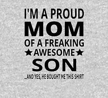 I'm A Proud Mom Of A Freaking Awesome Son Womens Fitted T-Shirt