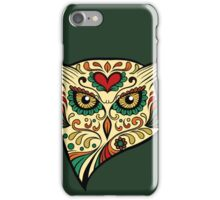 Owl Sugar Skull Day of The Dead design iPhone Case/Skin