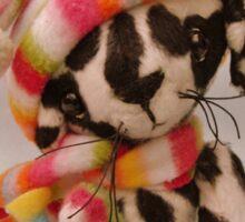 Handmade bears from Teddy Bear Orphans - Spot the Dalmation puppy Sticker