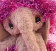 Handmade bears from Teddy Bear Orphans - Evelyn Elephant Sticker