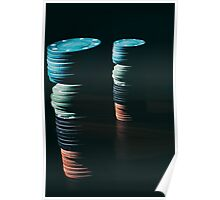 Abstract poker chips Poster
