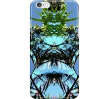 Blue sky and plant, mirror iPhone Case/Skin