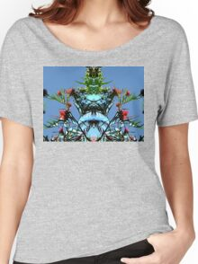 Blue sky and plant, mirror Women's Relaxed Fit T-Shirt