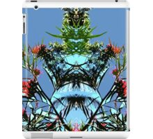 Blue sky and plant, mirror iPad Case/Skin