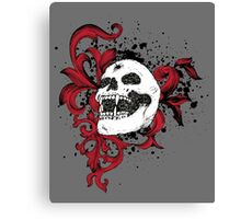Vampire Skull With Silver Bullet Hole Canvas Print