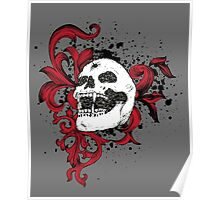 Vampire Skull With Silver Bullet Hole Poster
