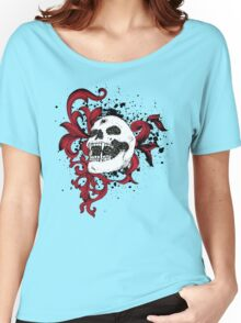 Vampire Skull With Silver Bullet Hole Women's Relaxed Fit T-Shirt