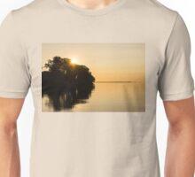 Golden Sunrise Over the Trees - the Joys of Summer Unisex T-Shirt