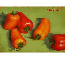 Mini Peppers Mini Painting Photographic Print