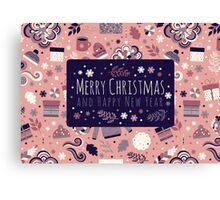 Happy Holidays Pattern Canvas Print