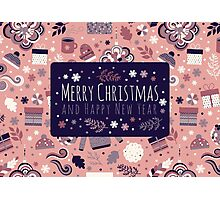 Happy Holidays Pattern Photographic Print