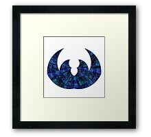 Sapphire Crown Framed Print