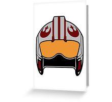 X-Wing Helmet Greeting Card