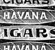 Havana Cigars. Sticker