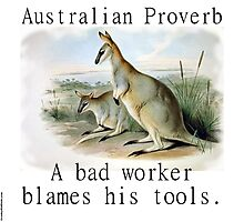 A Bad Worker Blames - Australian Proverb Photographic Print