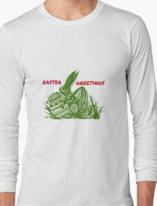 Easter Bunny Easter Greetings Long Sleeve T-Shirt