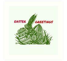 Easter Bunny Easter Greetings Art Print