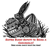 Easter Bunny Is A Chocoholic Photographic Print