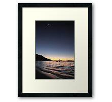 Sunset in Mahe, Seychelles Framed Print