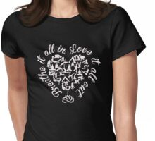 Breathe It All In, Love It All Out. Yoga. Womens Fitted T-Shirt