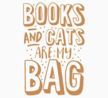 BOOKS AND CATS are my BAG One Piece - Short Sleeve
