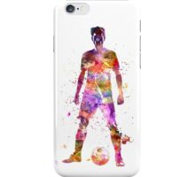 soccer football player young man standing defiance iPhone Case/Skin