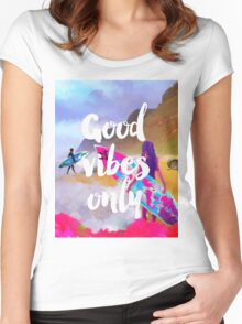 Good vibes only fresh surfers Women's Fitted Scoop T-Shirt