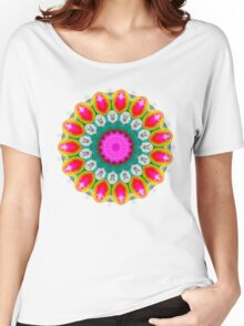 Kaleidoscope Colourful Round Pattern Women's Relaxed Fit T-Shirt