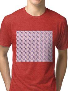 Vintage Pink Flower Pattern Tri-blend T-Shirt