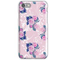Vintage Pink Flower Pattern iPhone Case/Skin