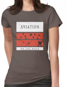 Aviation on the Move Womens Fitted T-Shirt