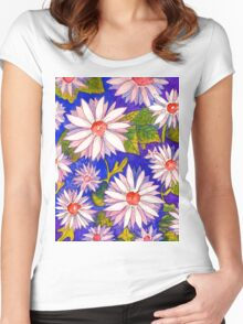 Giant Daisies Women's Fitted Scoop T-Shirt