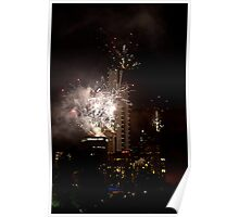 Eureka tower new years eve fireworks Poster