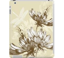 Classic hand painted flowers iPad Case/Skin