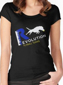 Revolution flyball black n blue Women's Fitted Scoop T-Shirt