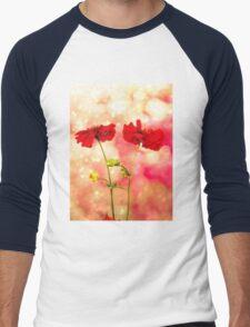 Scarlet Red. Men's Baseball ¾ T-Shirt