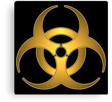 Biohazard Gold Symbol Canvas Print