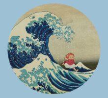 Ponyo and The Great Wave off Kanagawa VINTAGE Baby Tee