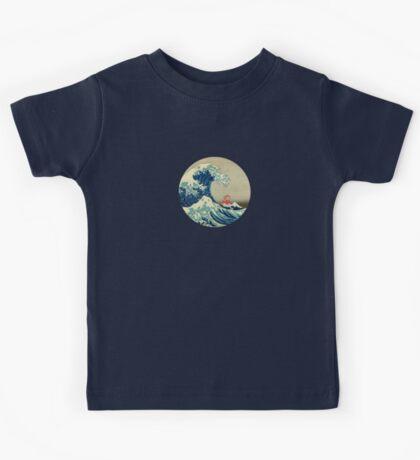 Ponyo and The Great Wave off Kanagawa VINTAGE Kids Tee
