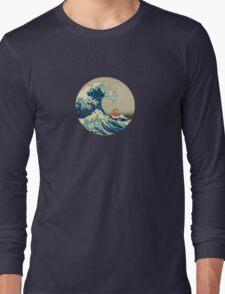 Ponyo and The Great Wave off Kanagawa VINTAGE Long Sleeve T-Shirt
