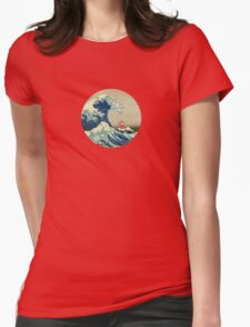 Ponyo and The Great Wave off Kanagawa VINTAGE Womens Fitted T-Shirt